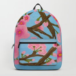 Chickadee on Cherry Tree Backpack