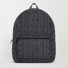 Charcoal Cable Knit Backpack