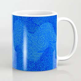 Under the Influence (Marimekko Curves) Feeling Blue Coffee Mug
