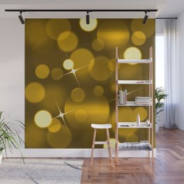 Elegant gold yellow abstract gradient bokeh Wall Mural