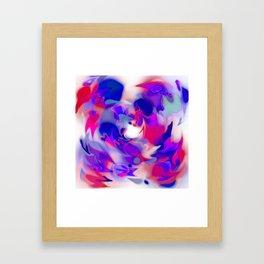 swirl of birds, abstract 1.2 Framed Art Print