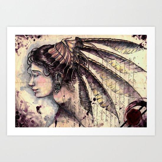 Her Document Art Print