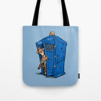 tigger Tote Bags featuring It's B-I-Double g-ER on the Inside by cû3ik designs