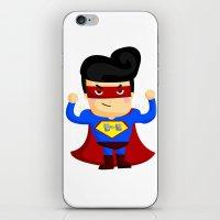 superhero iPhone & iPod Skins featuring Superhero by comodo777
