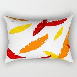Feathers Color Rectangular Pillow