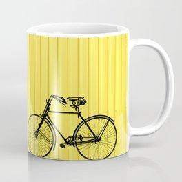 Vintage bike on yellow Coffee Mug