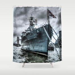 HMS Belfast at Rest Shower Curtain