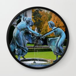 Dancing Nymphs - Den Brandt Castle - Antwerp Wall Clock