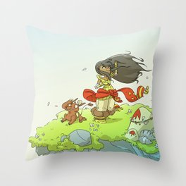 The Floating World Throw Pillow