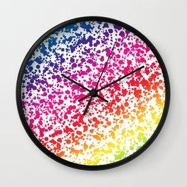 Rainbow Dots Wall Clock