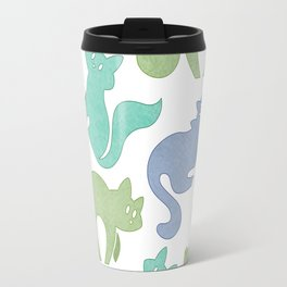 Cat Pattern - Mossy Travel Mug