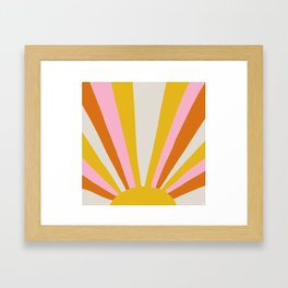 sunshine state of mind Framed Art Print