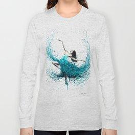 Teal Dancer Long Sleeve T-shirt