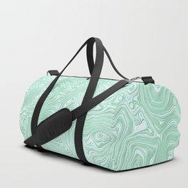 Mint Green Silk Moire Pattern Duffle Bag