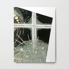 Faith and Trust in Self . Green Metal Print