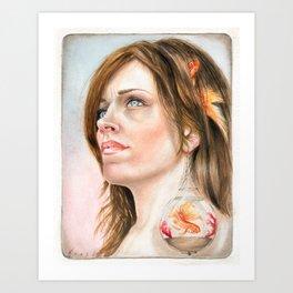 Fish Earring Art Print