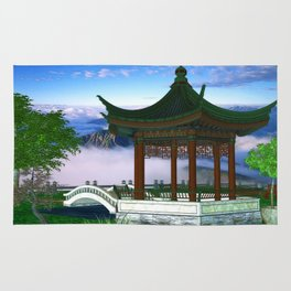 Pagoda Fantasy Scene Rug