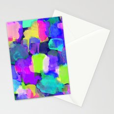 Brushstroke Blue Stationery Cards