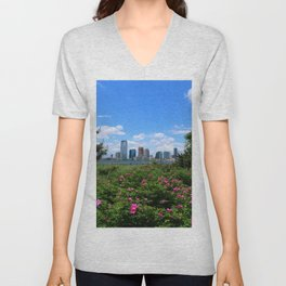 View Onto Jersey City Unisex V-Neck
