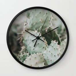 Cactus Closeup Wall Clock