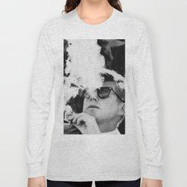 Cigar Smoker Cigar Lover JFK Gifts Black And White Photo Long Sleeve T-shirt