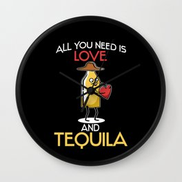 All You Need Is Love & Tequila Saying Wall Clock