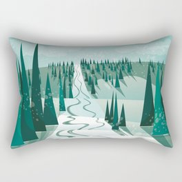 Winter Slope Rectangular Pillow