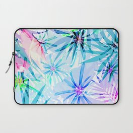 Flashy Colorful Tropical Flowers Design Laptop Sleeve