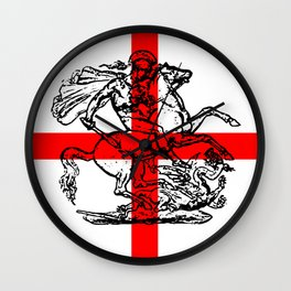 George and the Dragon Patriotic Flag Wall Clock