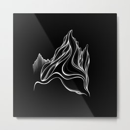 'Ribbon Mountain' Drawing Metal Print