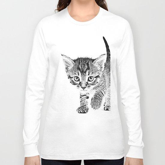 Kitten Sketch Long Sleeve T-shirt