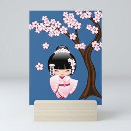 Japanese Bride Kokeshi Doll Mini Art Print