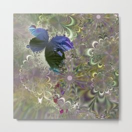 The butterfly of a fractal dreamscape Metal Print