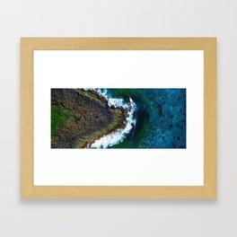 Waves and Rocks of Belowla Island Framed Art Print