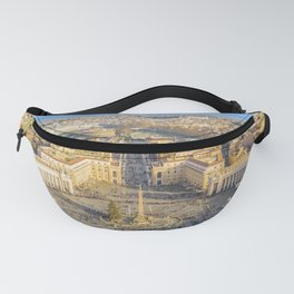 Rome Aerial View from Saint Peter Basilica Viewpoint Fanny Pack