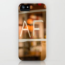 Diffraction 2 (Café - Coffee) iPhone Case