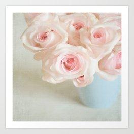 Sweet baby pink roses. Art Print