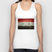 arab Tank Tops featuring The Syrian national flag - vintage version (may PEACE prevail) by LonestarDesigns2020 is Modern Home Decor