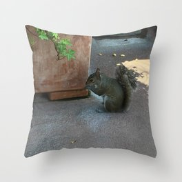 Crouching Squirrel Throw Pillow