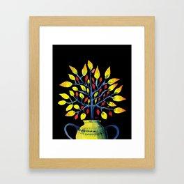 Yellow Tree Framed Art Print