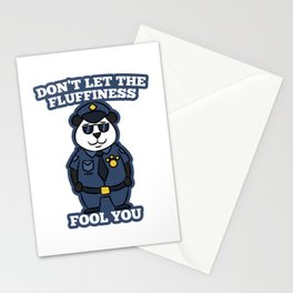 Panda Bear police security Gift Stationery Cards