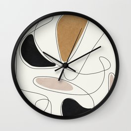 Thin Flow III Wall Clock