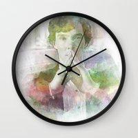 sherlock Wall Clocks featuring Sherlock by NKlein Design