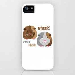 Wheek Wheek Guinea Pigs iPhone Case