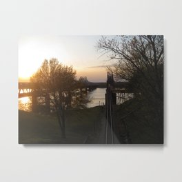 Twin Bridges Metal Print