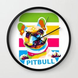 Pitbull Dog Wall Clock