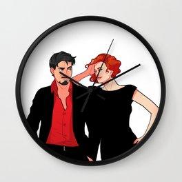 Tony and Natasha Wall Clock