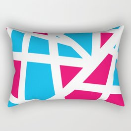 Abstract Interstate  Roadways Aqua Blue & Hot Pink Color Rectangular Pillow