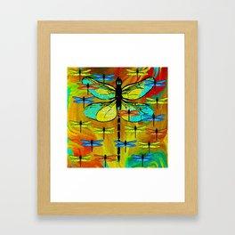 DRAGONFLY FORMATION Framed Art Print