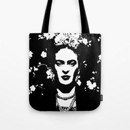 Black 'n white Frida Tote Bag